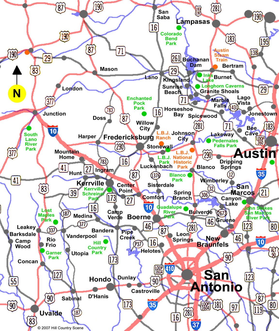 Map Of The Hill Country Texas My Blog - Texas towns map
